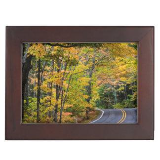 Autumn Canopy Of Color Along Highway 41 Keepsake Box