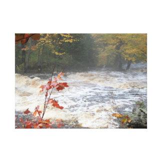 Autumn Canyon Falls Canvas Print