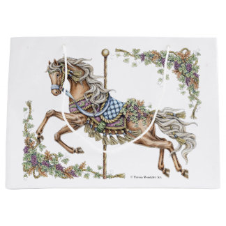 Autumn Carousel Horse Drawing Gift Bag