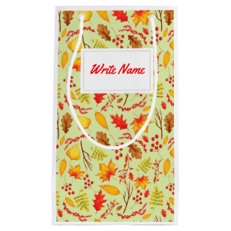 Autumn case autumn Leaves, sheets Small Gift Bag