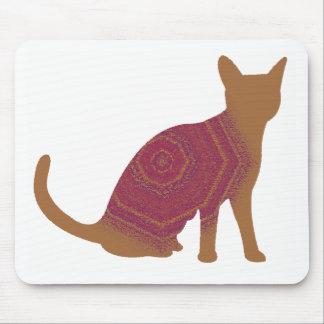 Autumn cat mouse pad