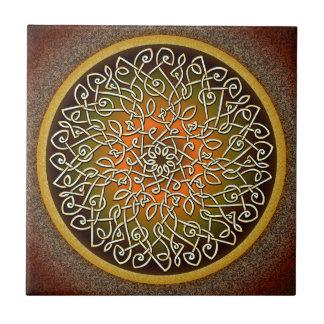Autumn Celtic Art Burst Tile