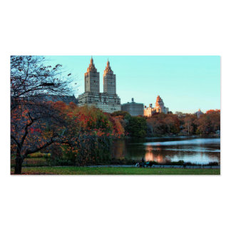 Autumn: Central Park Lake, San Remo Business Card