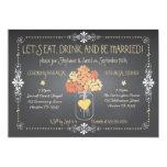 Autumn Chalkboard Wedding Rehearsal Mason Jar 13 Cm X 18 Cm Invitation Card