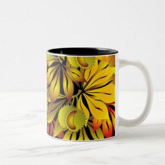 autumn chestnut leaves coffee mugs
