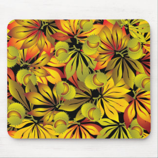 autumn chestnut leaves mouse pad