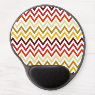 Autumn Chevron Pattern Gel Mouse Pad