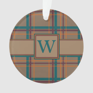 Autumn Chic Plaid Acrylic Ornament