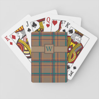 Autumn Chic Plaid Classic Playing Cards