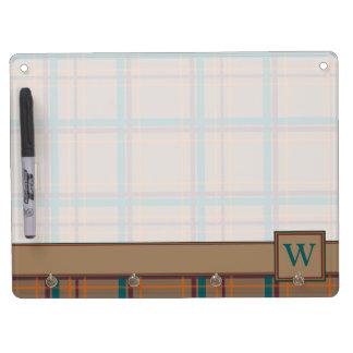 Autumn Chic Plaid Dry Erase Board
