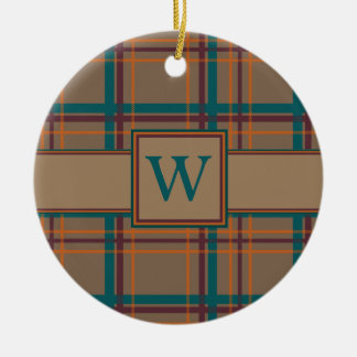 Autumn Chic Plaid Ornament