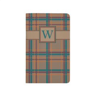 Autumn Chic Plaid Pocket Journal