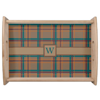 Autumn Chic Plaid Serving Tray