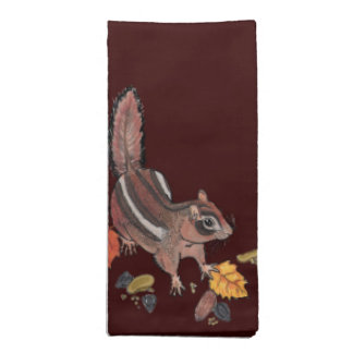 Autumn Chipmunk~napkins Napkin