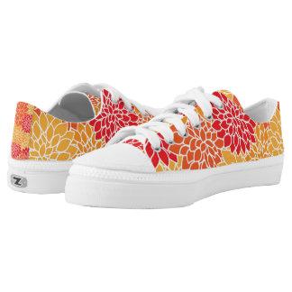 Autumn Chrysanthemums Printed Shoes
