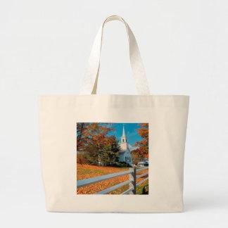 Autumn Church In Splendor New England Bag