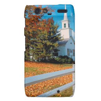 Autumn Church In Splendor New England Droid RAZR Cases