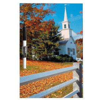 Autumn Church In Splendor New England Dry-Erase Whiteboard