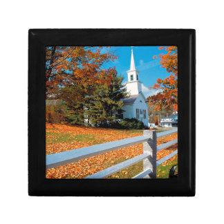 Autumn Church In Splendor New England Keepsake Boxes