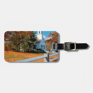 Autumn Church In Splendor New England Travel Bag Tag