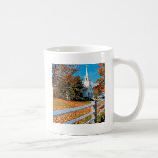 Autumn Church In Splendor New England Mugs