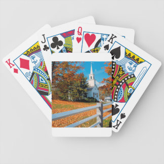 Autumn Church In Splendor New England Bicycle Playing Cards