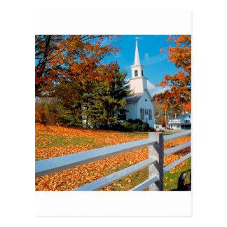 Autumn Church In Splendor New England Postcard