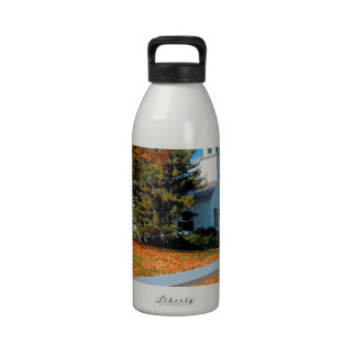 Autumn Church In Splendor New England Drinking Bottle