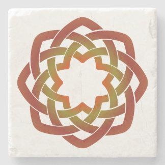 Autumn Circle Stone Coaster