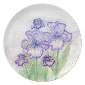 Autumn Circus and Art Deco Iris' Plate