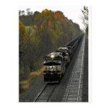 Autumn Coal Train Postcard