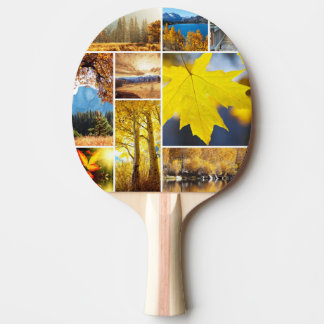 Autumn collage ping pong paddle