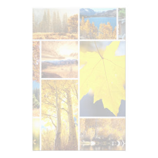 Autumn collage stationery