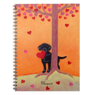 Autumn Color Black Labrador Notebooks