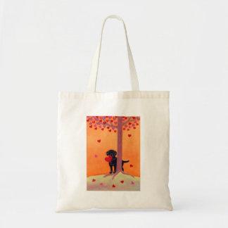 Autumn Color Black Labrador Tote Bag