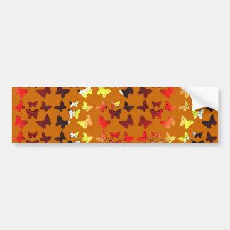 Autumn Color Swirl Butterfly Pattern Bumper Sticker