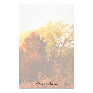 Autumn Color Trees Nature Art Photo Add Your Name Custom Stationery