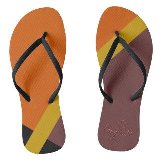 Autumn Colored Flip-Flops Flip Flops