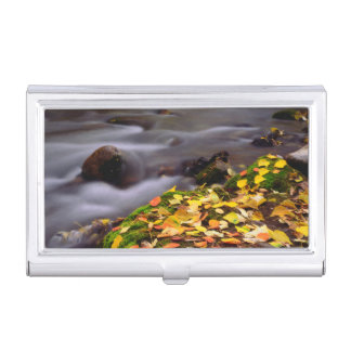 Autumn Colors along McGee Creek Business Card Holder