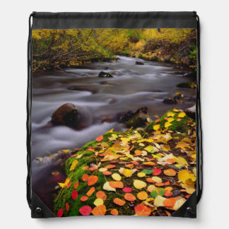 Autumn Colors along McGee Creek Drawstring Bag