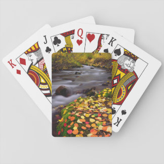 Autumn Colors along McGee Creek Playing Cards