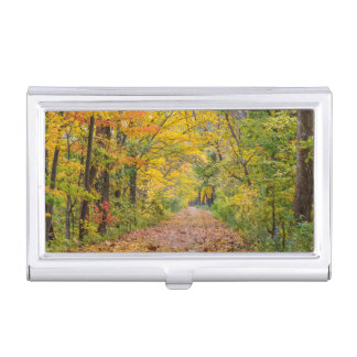 Autumn Colors At Independence State Park Business Card Holder