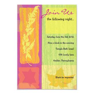 Autumn Colors Bar Bat Mitzvah Party Card
