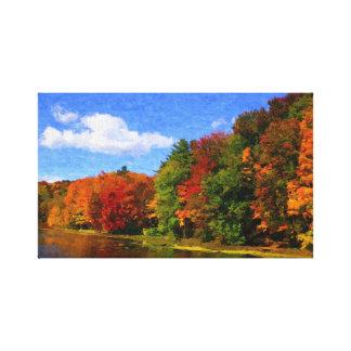Autumn Colors canvas Stretched Canvas Print