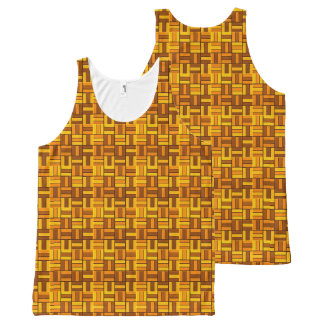 Autumn colors, ceramic-look tiled pattern All-Over print tank top