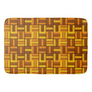 Autumn colors, ceramic-look tiled pattern bath mat