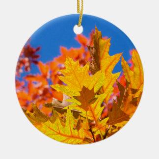 Autumn colors christmas ornament