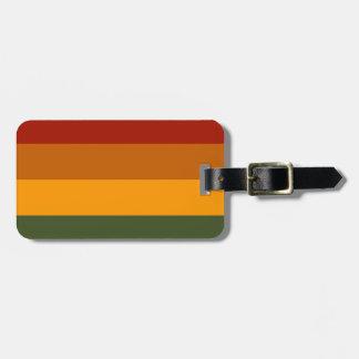 Autumn Colors custom luggage tag