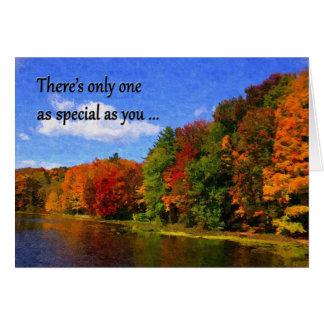 Autumn Colors fall birthday card gay/lesbian