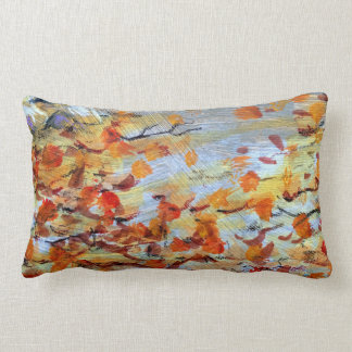Autumn Colors Fall Leaves Painted Pillow